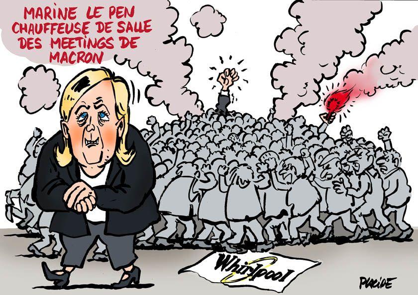 Le Pen et Macron à Whirlpool