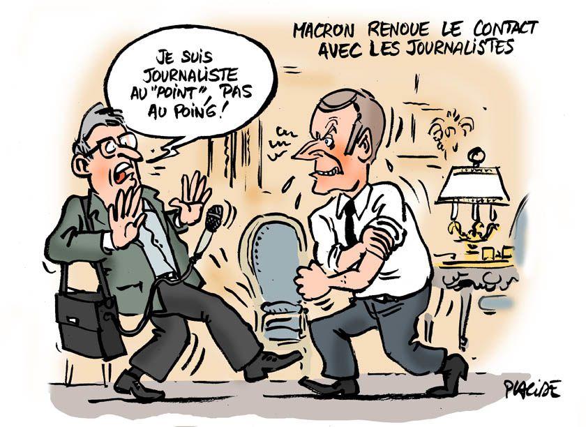 Premier entretien de Macron au &quot&#x3B;Point&quot&#x3B;
