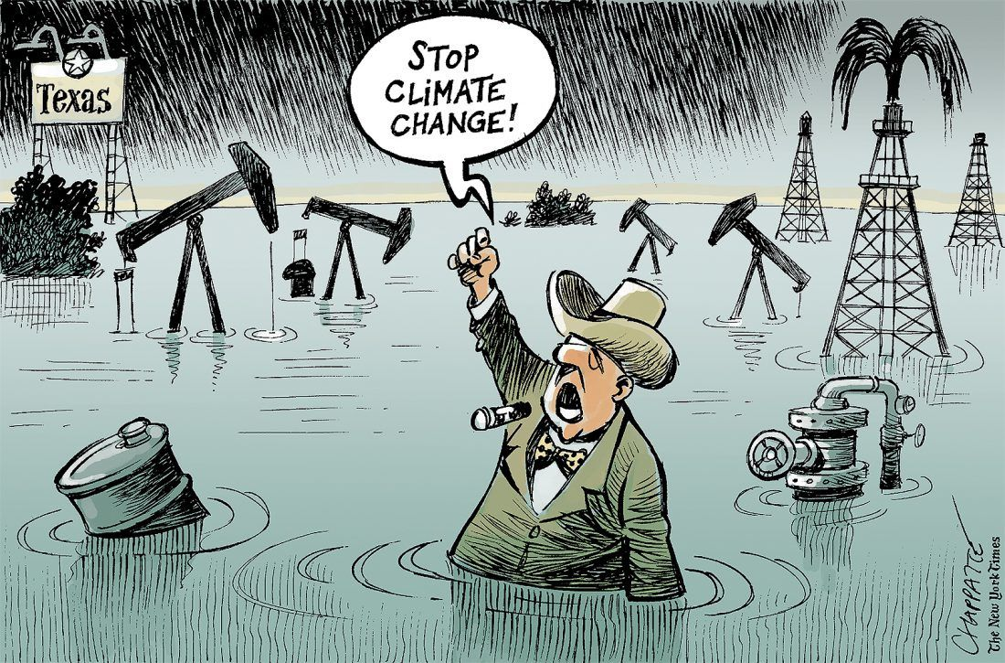 CHAPPATTE.........STOP CLIMATE CHANGE....