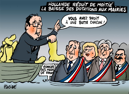 Hollande fait un geste pour les communes...