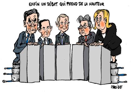 """Premier """"grand débat"""" télévisé pour les présidentielles..."""
