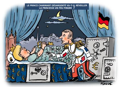 Première visite du président Macron à Berlin......