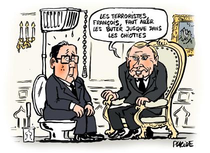 Hollande et Poutine se coordonnent contre Daech...