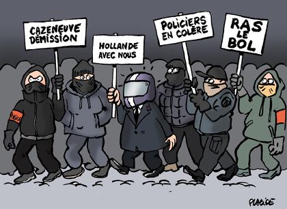 Les policiers manifestent pour exprimer leur &quot&#x3B;ras-le-bol&quot&#x3B;...