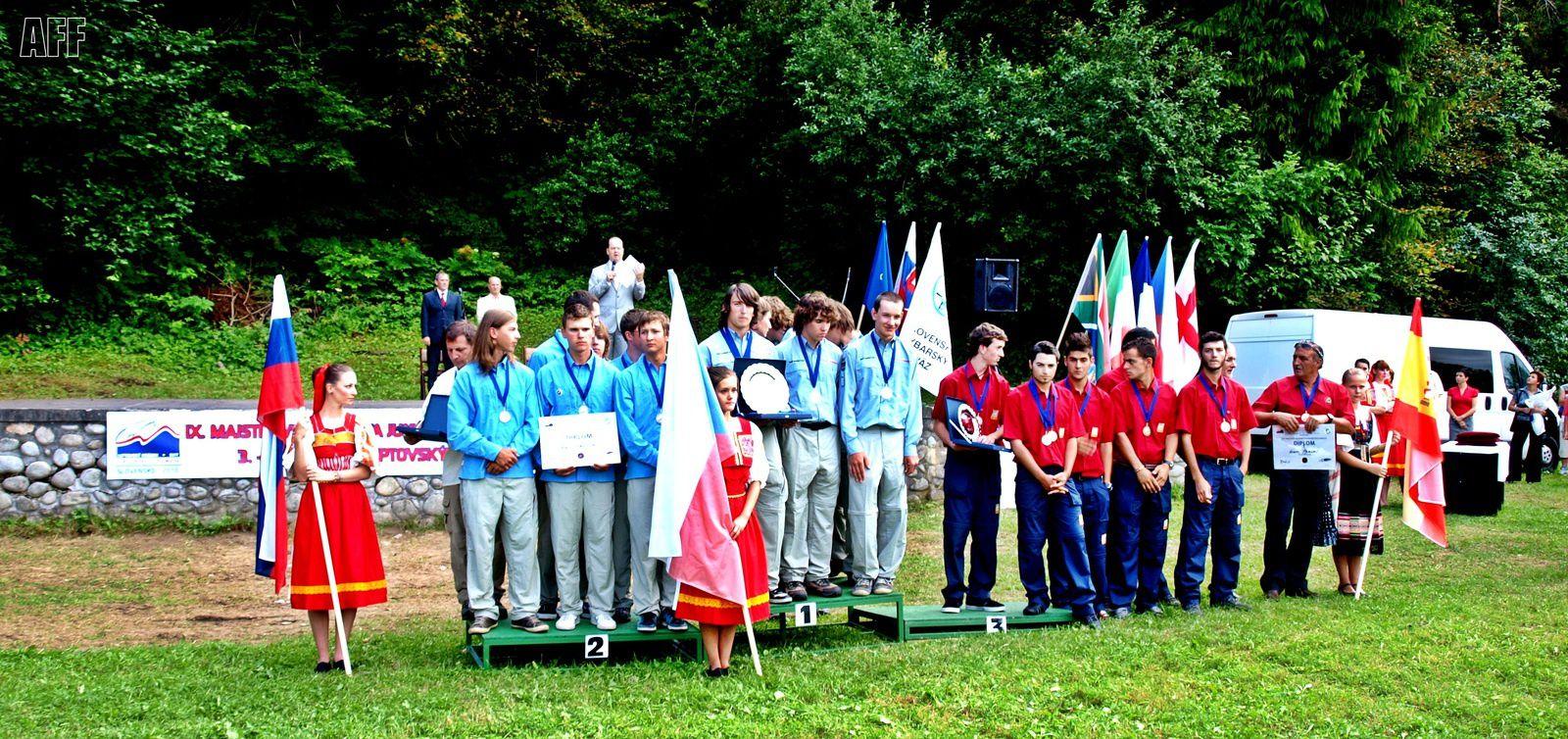 Podium final: 1 - CZECH REPUBLIC, 2 - SLOVAKIA, 3 - ESPAÑA.