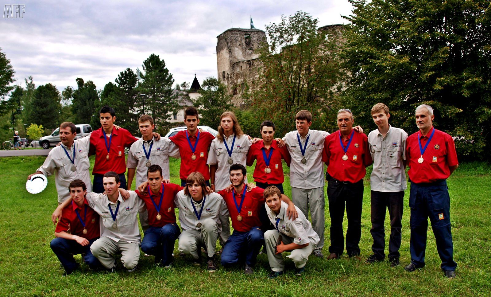 Foto con los anfitriones y segundos clasificados ( Slovakia). - Photo with hosts and Second Classified (Slovakia)