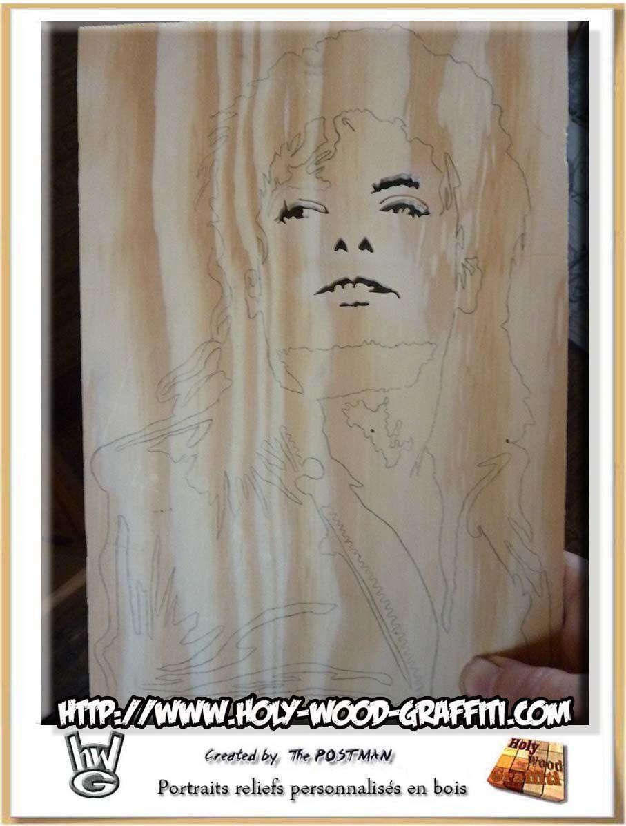 Portrait / dessin de Michael Jackson pour fêter ses noces de cristal
