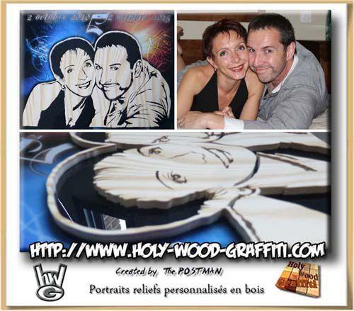 Des portraits en bois comme cadeau