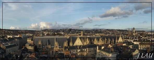 Rouen - Gros hologe et Beffroi