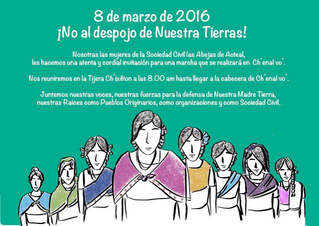 Chiapas : Las Abejas invitent à une marche de Chixilton à Chenalho pour le 8 mars 2016