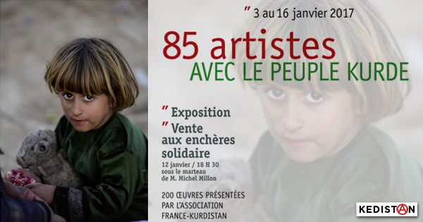"""Expo France•Kurdistan : """"200 oeuvres pour le peuple kurde"""""""