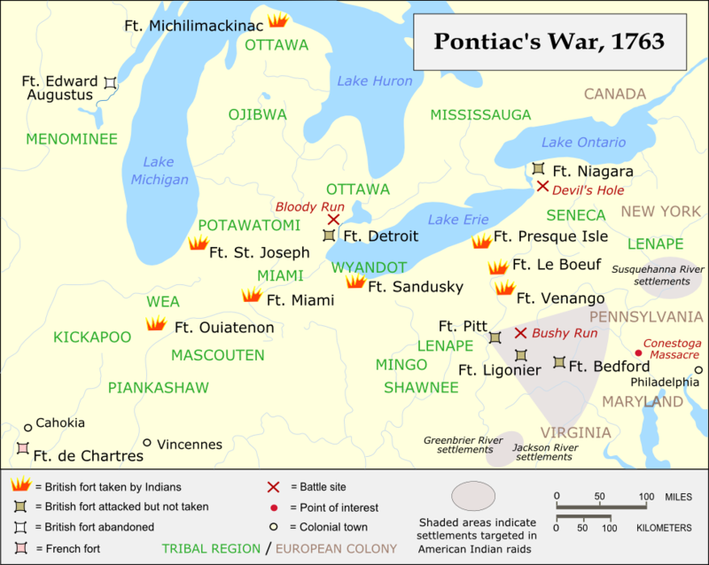 rébellion de Pontiac - CC BY-SA 3.0, https://commons.wikimedia.org/w/index.php?curid=1416720