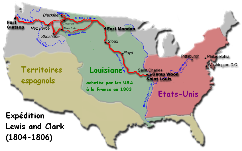 expédition de lewis et clark- CC BY-SA 3.0, https://commons.wikimedia.org/w/index.php?curid=488028