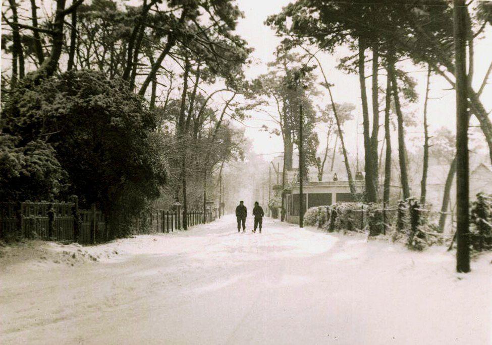 Années 60, Avenue de l'océan, photo prise devant le Grand Chalet