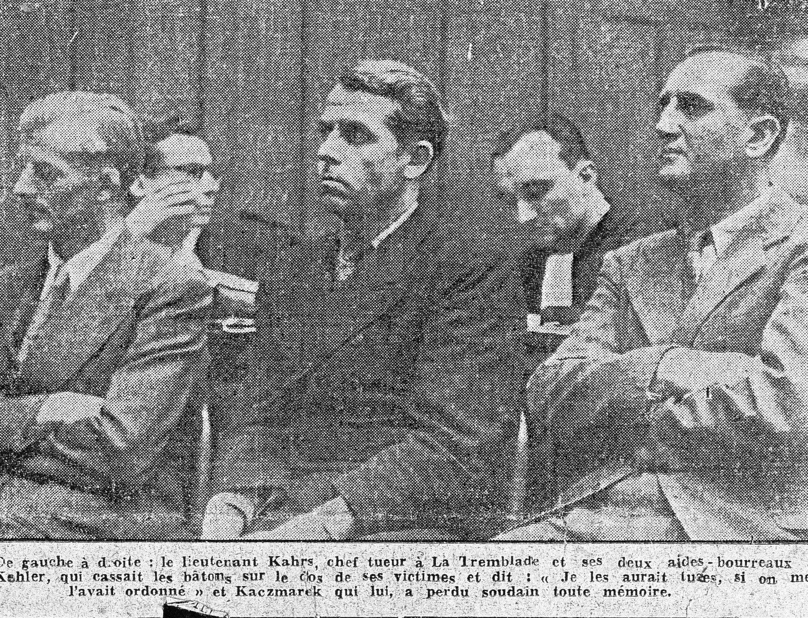 Les trois tortionnaires comparaissent devant le tribunal militaire de Bordeaux du 5 au 7juillet 1950