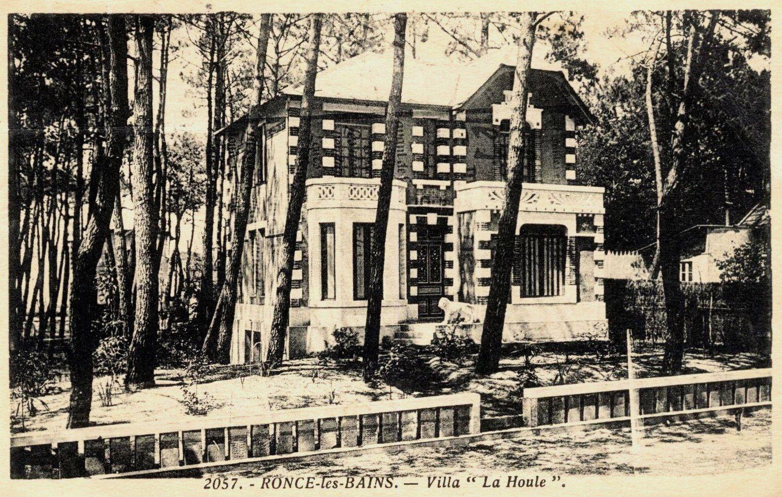 La Houle, un des nombreux chalets de l'avenue Gabrielle réquisitionné par les Allemands