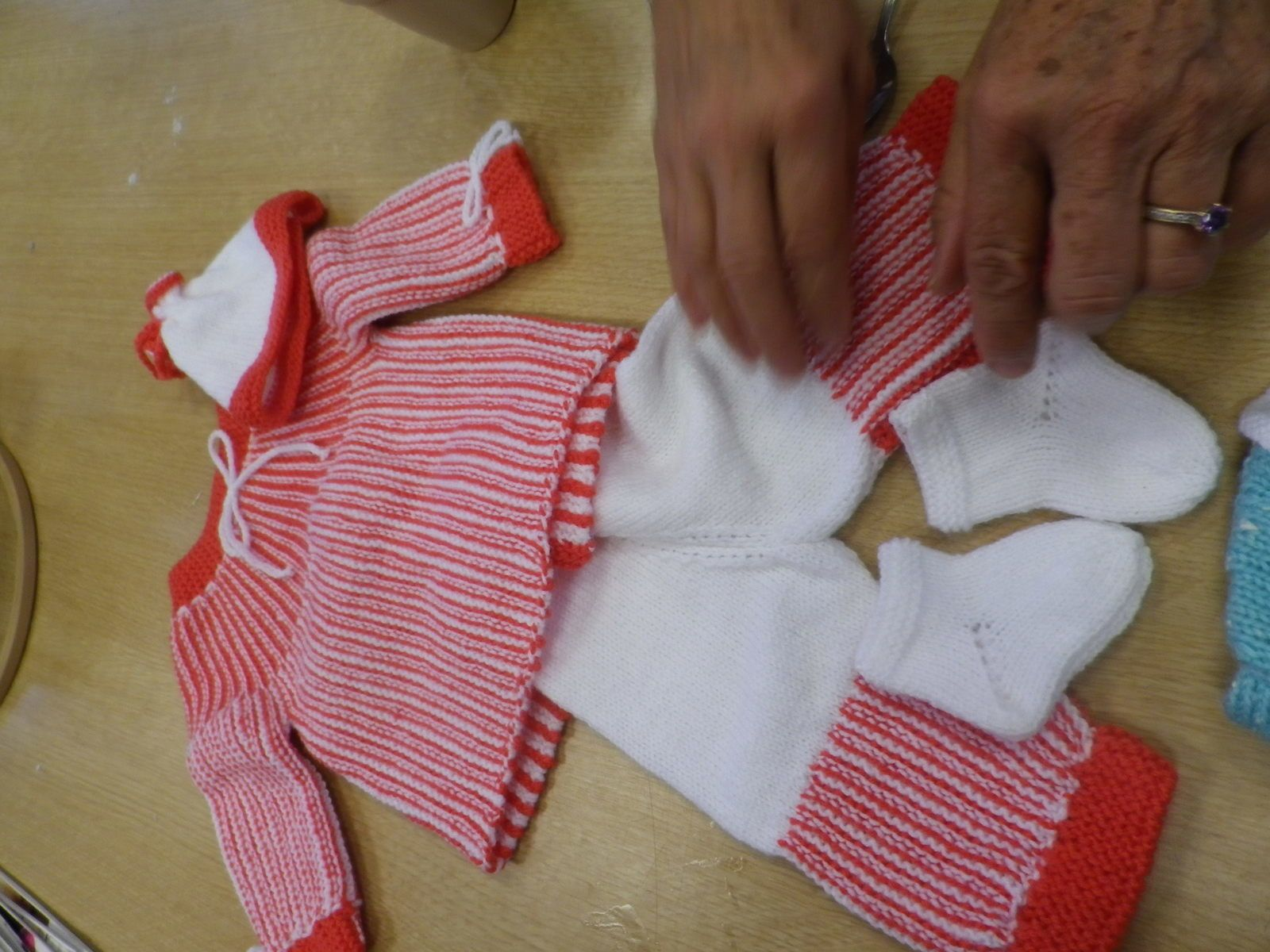 jolis tricots de la dame de Marsannay