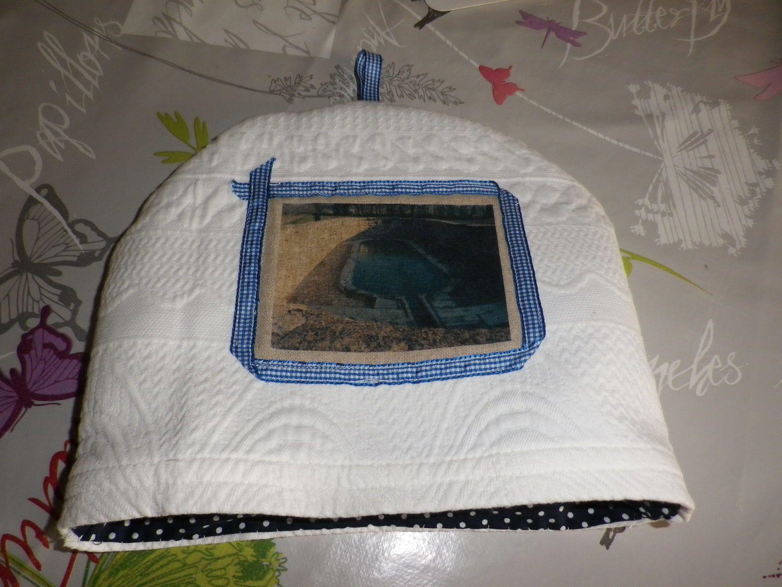 couvre théière en tissu
