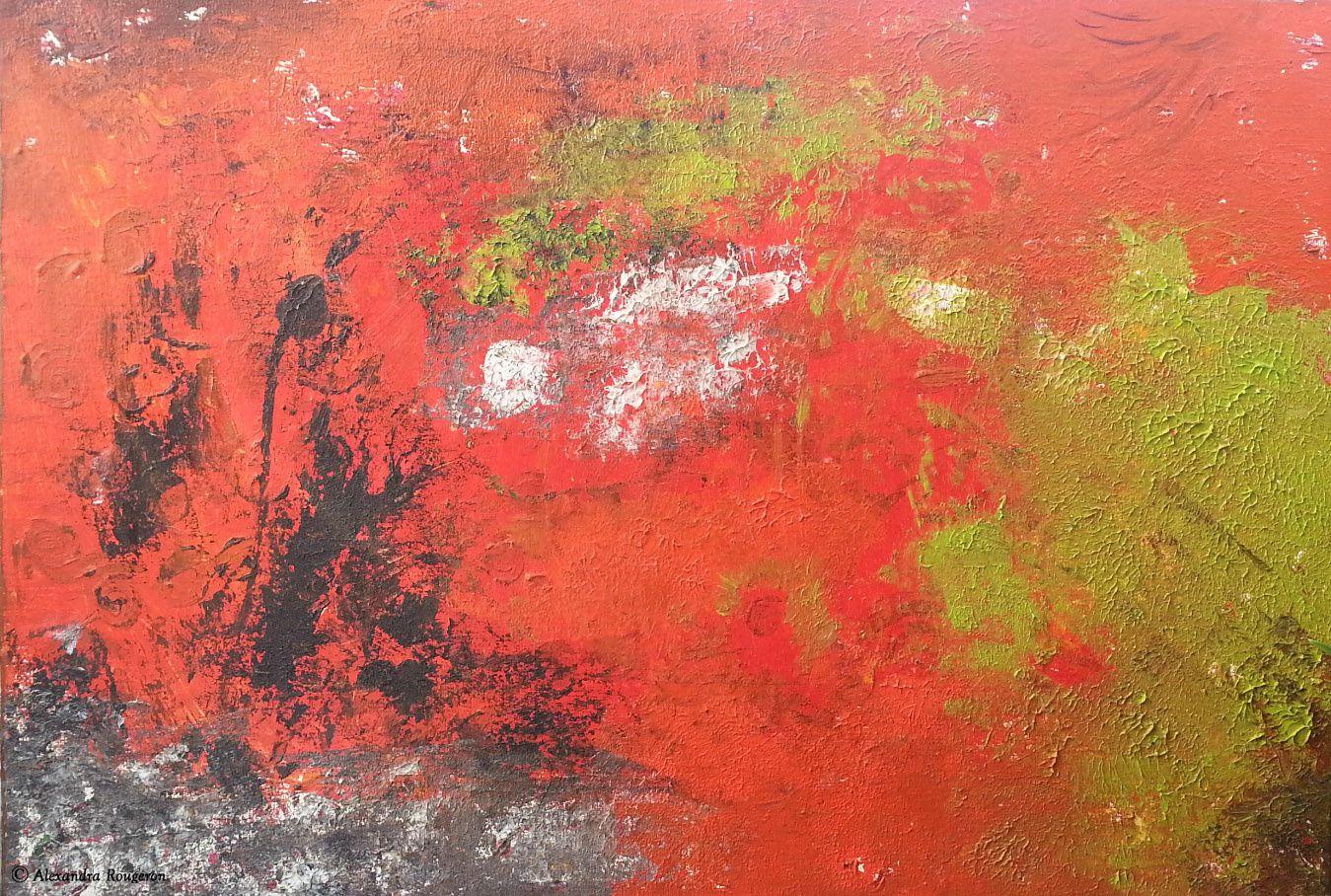 Titre : Pollution Active - Peinture à l'huile. Dimensions : 55x38cm