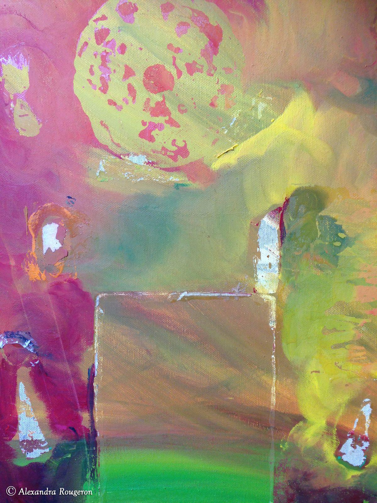 La porte du soleil. Peinture à l'huile. Dimensions : 42x33 cm