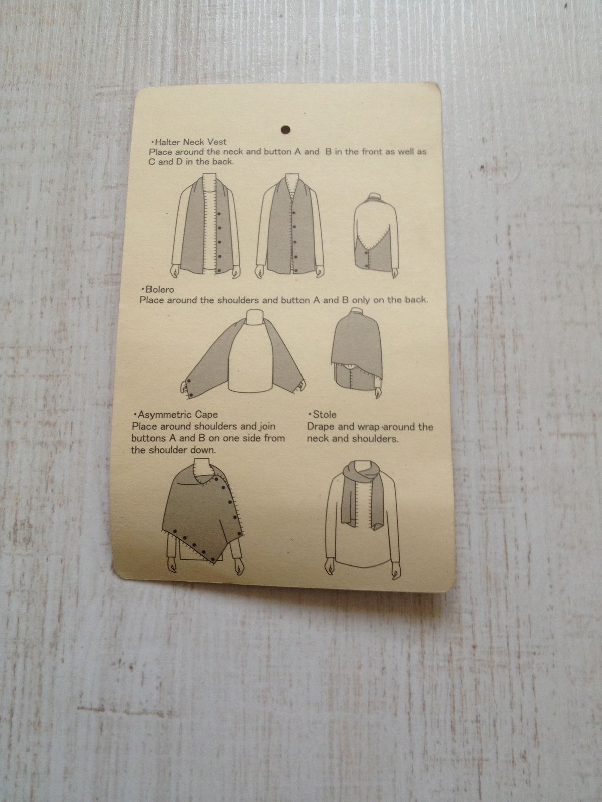 La cape Muji, le basique indispensable