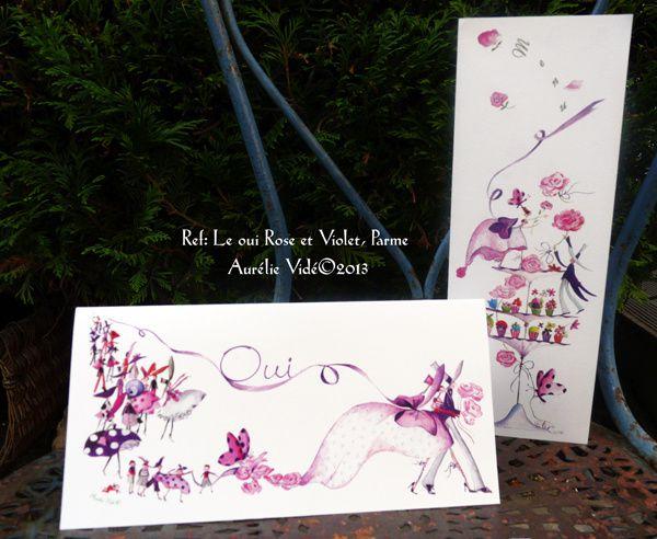 Le Oui rose et violet original