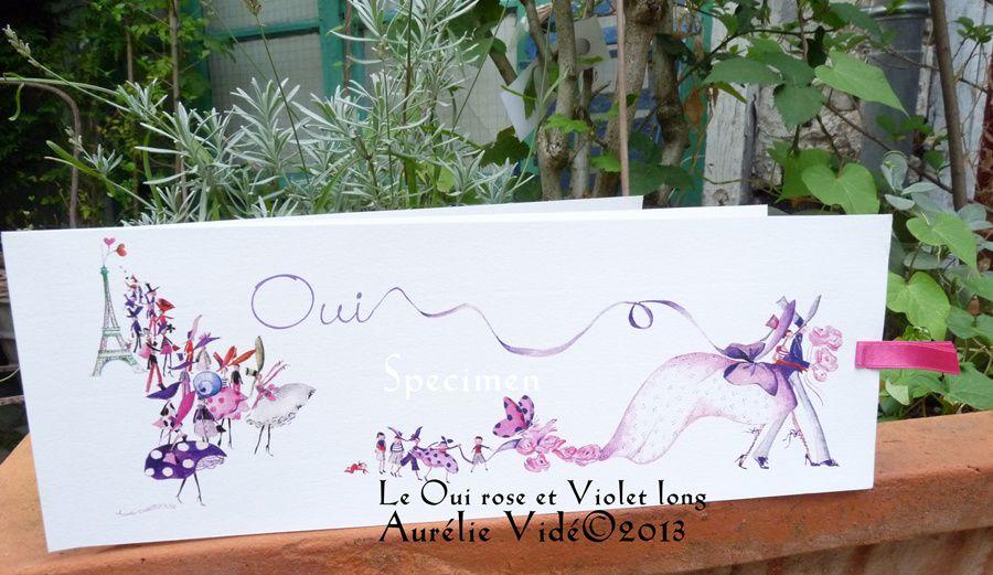 Le Oui Rose et Violet,Prune en format long.