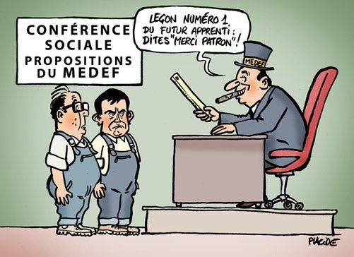 Regard sur la conférence sociale - La revanche de la classe de la collaboration