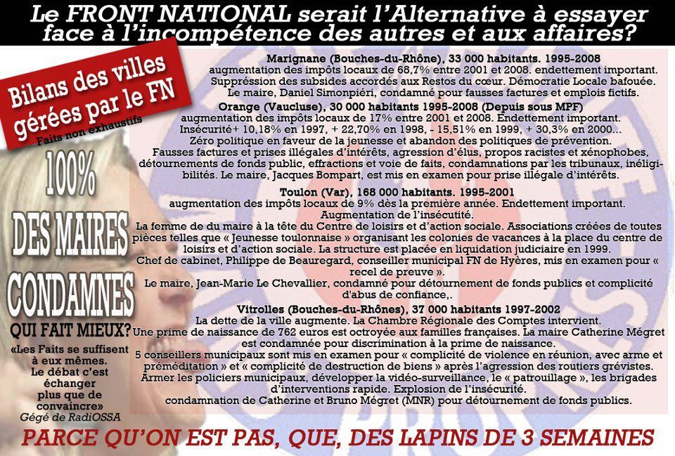 Front national et les Le Pen les sales affaires !