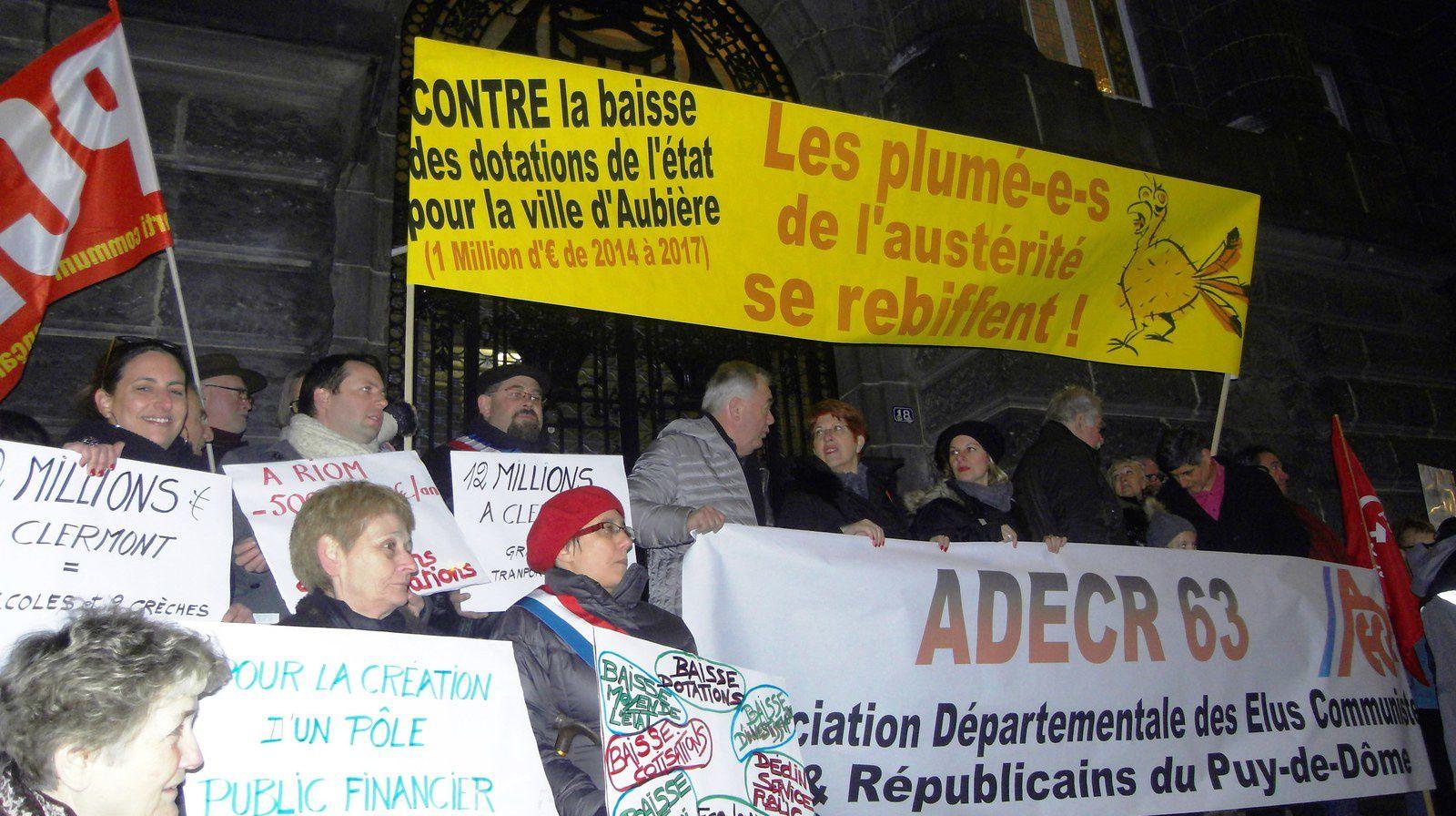 Rassemblement devant la Préfecture de Clermont-Ferrand le 11-02-2016