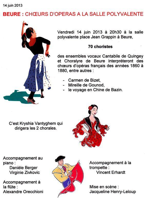 Concert des chorales de QUINGEY et BEURE