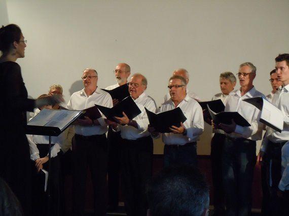 La Choralyre et Cantabile pour un concert à Beure