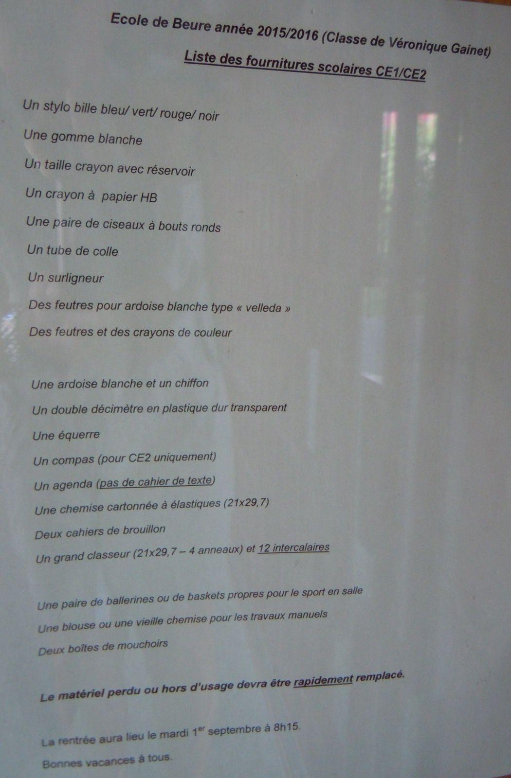 Listes des fournitures perdues : Elles sont ICI ...