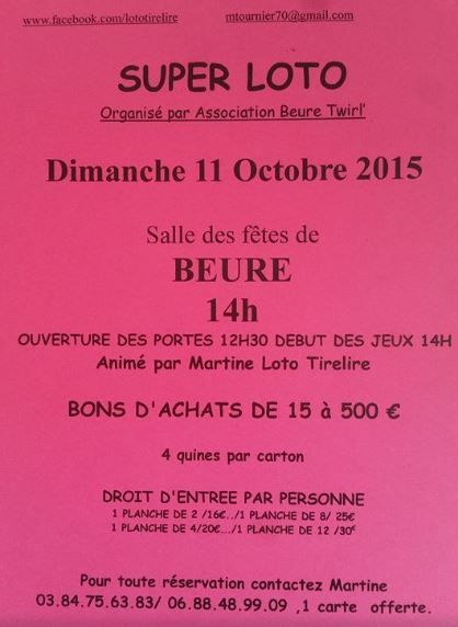 Beure Twirling organise son loto