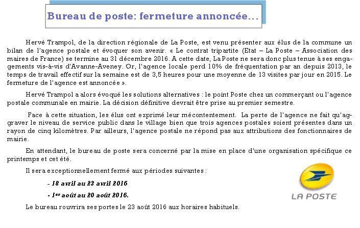 Nos communes voisines beure l 39 actualit de votre village - Bureau de poste ouvert le samedi apres midi paris ...