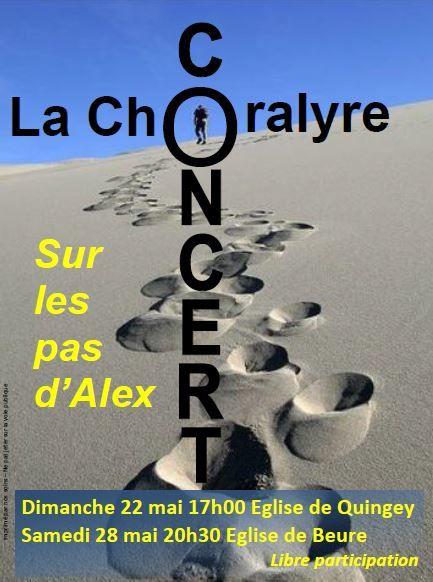Concert Choralyre .... &quot&#x3B;sur les pas d'Alex&quot&#x3B;