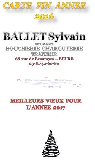 Sylvain BALLET vous propose pour les fêtes de fin d'année
