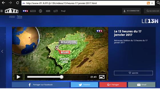 TF1 : Reportage sur le village de BEURE