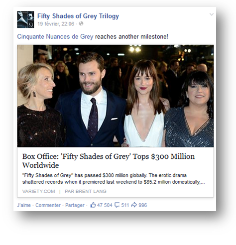 Buzz Story: Fifty shades of Grey
