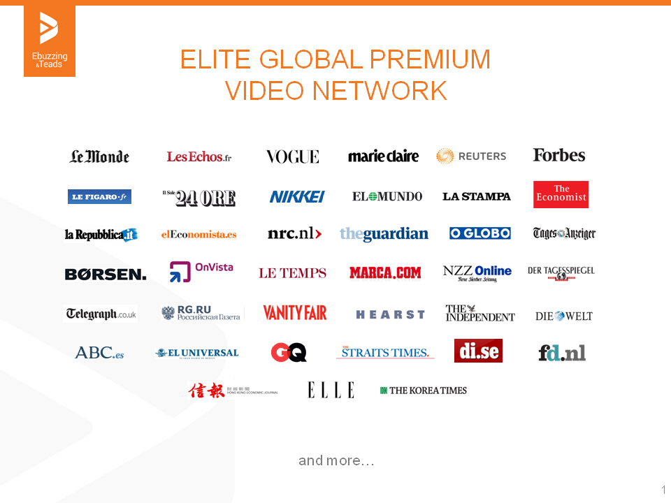 ONLINE VIDEO: WHAT'S NEXT? ARRIVA &quot&#x3B;TEADS ELITE &quot&#x3B;IL NUOVO NETWORK PREMIUM GLOBALE