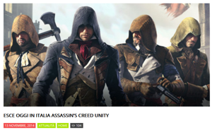 Buzz Story: Assassin's Creed Unity