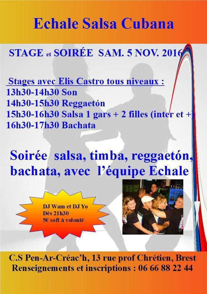 stages + soirée latino samedi 5 novembre