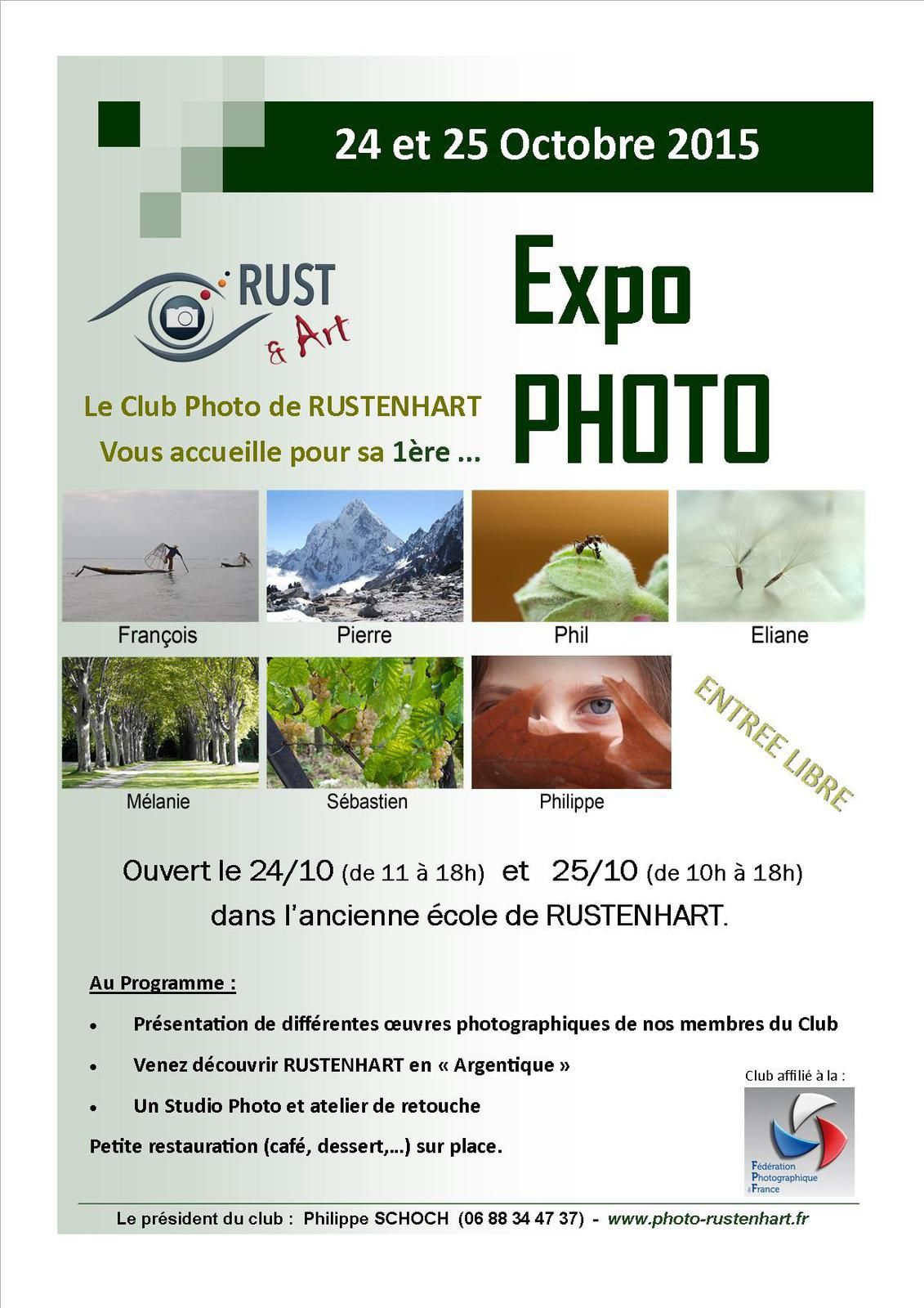 Ce week-end la 1ère exposition du club photo de RUSTENHART