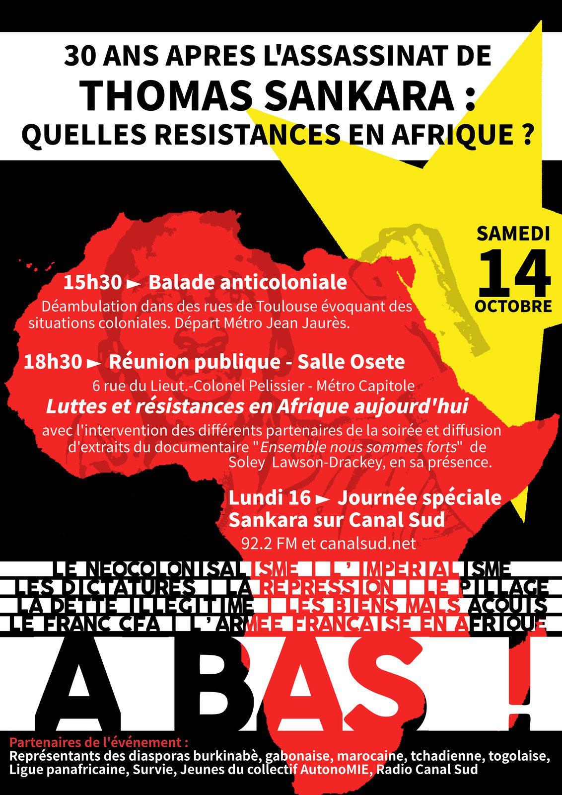 30 ans après l'assassinat de Thomas Sankara : Quelles résistances en Afrique ?
