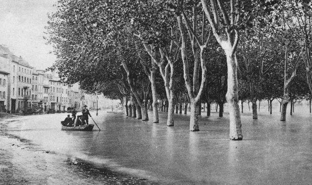Une crue majeure du Rhône En mai 1856 à Tournon