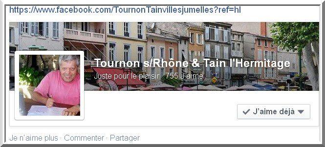 Tournon s/Rhône &amp&#x3B; Tain l'Hermitage sur facebook