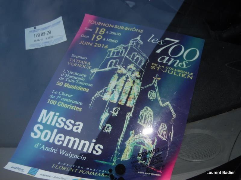 La 700° de la Collégiale Saint Julien TOURNON 07