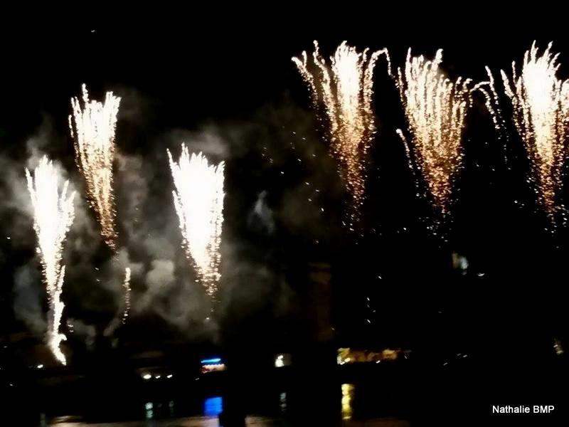 Feu d'artifice 14 juillet 2016 Tournon-Tain