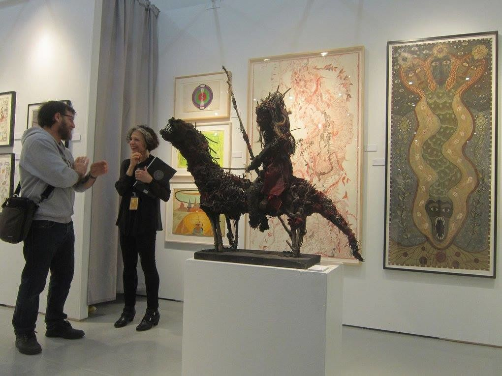 Stand de la Galerie Cavin-Morris à Outsider Art Fair, New York 2015.