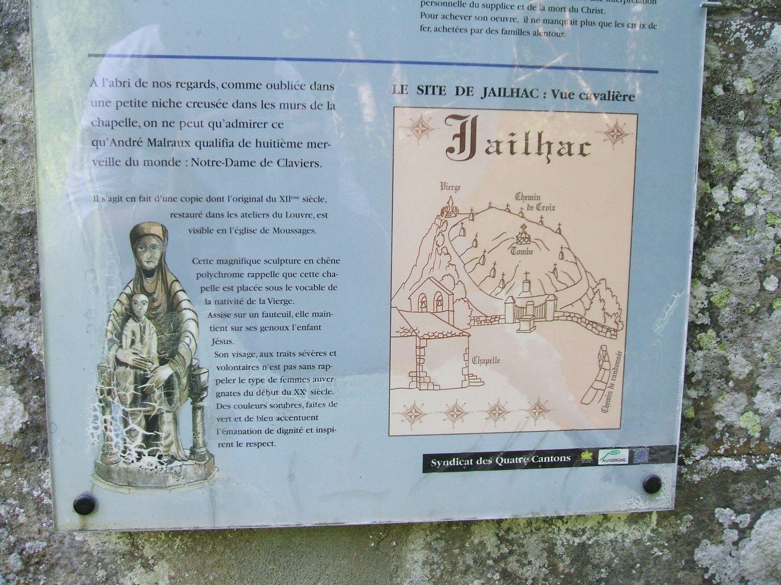 """La vierge """"Notre-Dame de Claviers"""" à la Chapelle de Jailhac, Cantal"""
